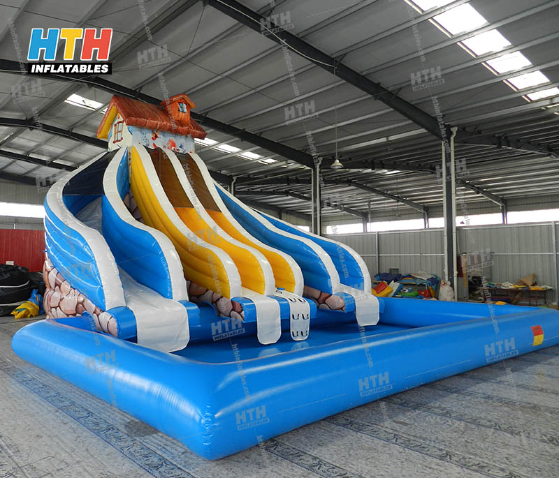 Inflatable Water Slide Wholesale House Slide With Inflatable Pool